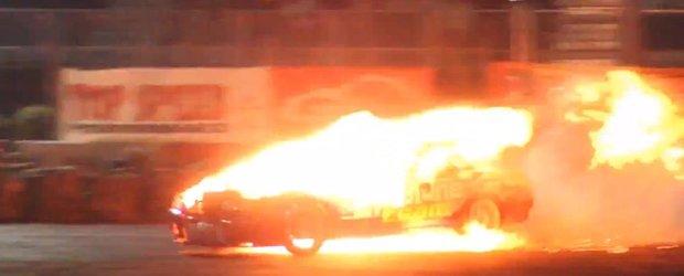 Razbunarea masinii: la abuz excesiv, un Nissan raspunde cu foc