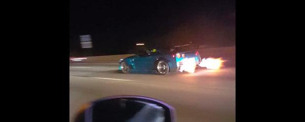 Reactia amuzanta a unui pasager la aparitia de nicaieri a unui Nissan GT-R complet tunat