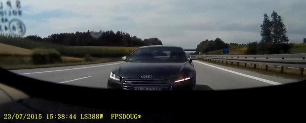 Reactia care salveaza vieti: Cum evita un Audi TT dezastrul in ultimul moment