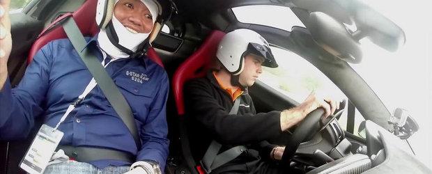 Reactia pasagerilor la senzatiile oferite de McLaren P1