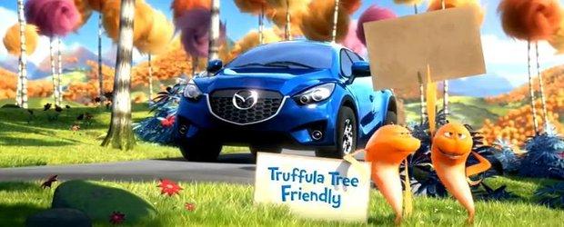 Reclama la Mazda CX-5: cu acordul copacilor