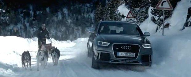 Reclama la noul Audi RS Q3: mai rapid decat sania trasa de Husky