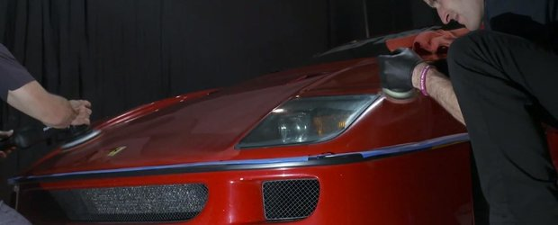 Reconditionarea vopselei unui Ferrari F40 este o adevarata arta