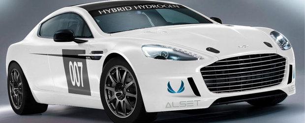 Record Aston Martin Rapide S: a devenit primul vehicul cu hidrogen care a parcurs un tur de circuit