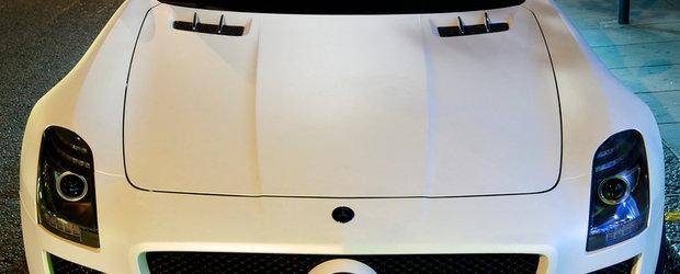 Redefinirea perfectiunii - Mercedes SLS AMG in alb mat