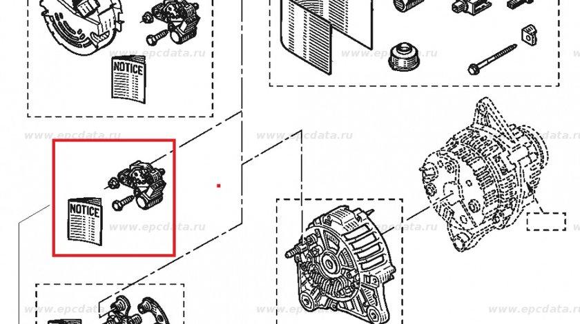 Releu alternator Dacia Supernova 1.4, Citroen C5 Xantia , Opel Arena Movano, Peugeot 406, Renault CLio 1 Laguna Megane , Original 7701043359 Kft Auto