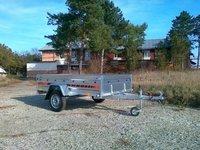 Remorca auto 750 kg Boro Agro basculabil 233x132 cm