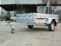 Remorca auto 750 kg Boro Agro basculabil 233x132 cm (suspensie cu arcuri)