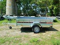 Remorca auto 750 kg Boro Agro basculabil 244x144 cm ( suspensie cu arcuri )