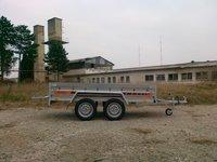 Remorca auto 750 kg Boro Agro basculabil cu punte tandem 265x132 cm