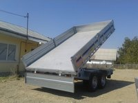 Remorca auto basculabila Wiola 3500 kg, dimensiune 342x192 cm