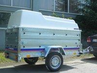 Remorca auto carosata Niewiadow 750 kg, dimensiune utila de 2040 x 1150 x 1180 mm