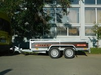 Remorca utilitara Boro Bork 1500 kg, dimensiune utila de 2950 x 1450 x 400 mm
