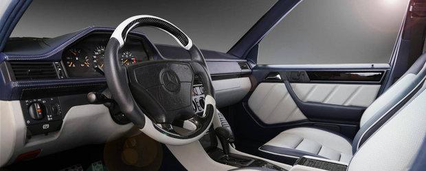 Renasterea unui clasic: Mercedesul 500E W124 cu interior nou din piele, alcantara si carbon