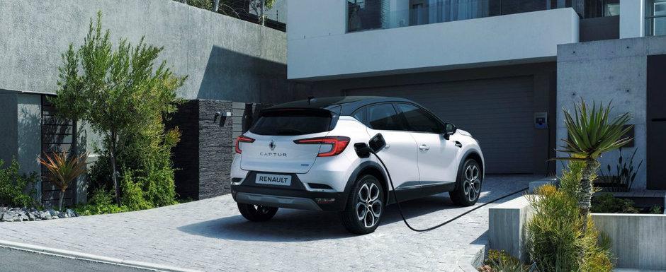 Renault CAPTUR, de-acum si intr-o versiune plug-in hybrid. Consum de 1.5 litri/100 km si 160 CP