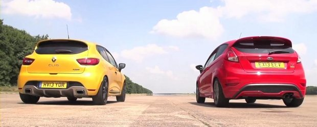 Renault Clio RS 200 EDC. Ford Fiesta ST Mountune. DRAG RACE!