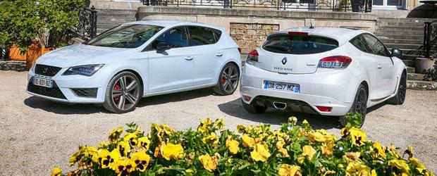 Renault Megane RS vs SEAT Leon Cupra: Ce alegi si de ce?