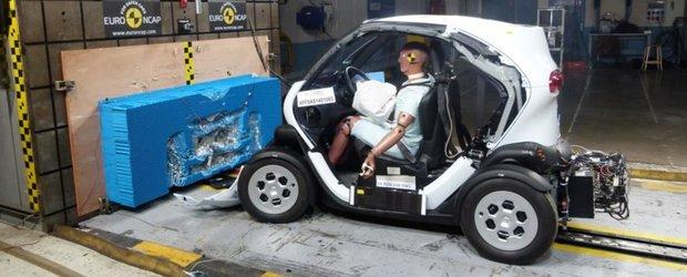 Renault Twizy obtine 6 puncte din 16 la testele Euro NCAP
