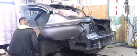 Reparatia anului vine din Rusia. Uite acum a reparat un meserias un BMW Seria 7