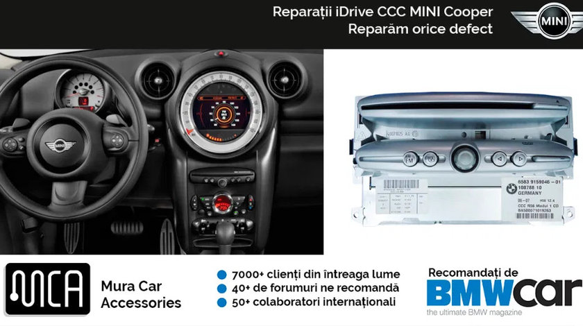 Reparatii navigatii iDrive CCC pentru Mini Cooper | 1 an garantie