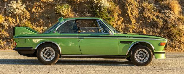 Restaurat si finisat intr-o nuanta extrem de rara. Acest BMW 3.0 CSL din '74 a fost scos acum la vanzare