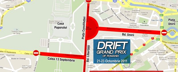 Restrictii de circulatie in centru, cu ocazia Drift Grand Prix of Romania