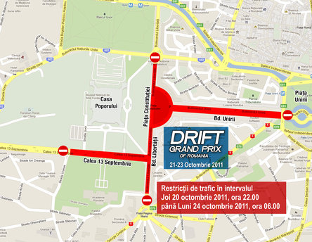 Restrictii de circulatie in centru, cu ocazia Drift Grand Prix of Romania