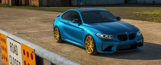 Reteta succesului pentru acest BMW M2: jante aurii de 6.800 de dolari de la Vossen