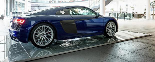 Reteta unui viitor clasic: Audi R8 intr-o combinatie Santorini Blue, plus Havana Brown