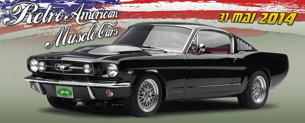 Retro American Muscle Cars, expozitie cu masini istorice americane in Bucuresti