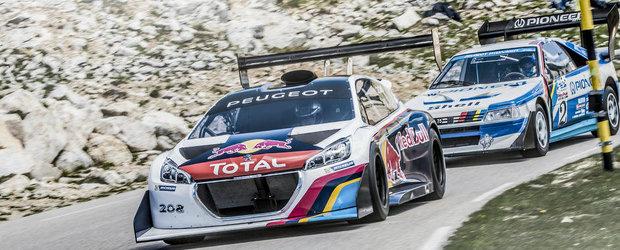 Reuniune in familia Peugeot: noul 208 T16 Pikes Peak pozeaza alaturi de vechiul 405 T16