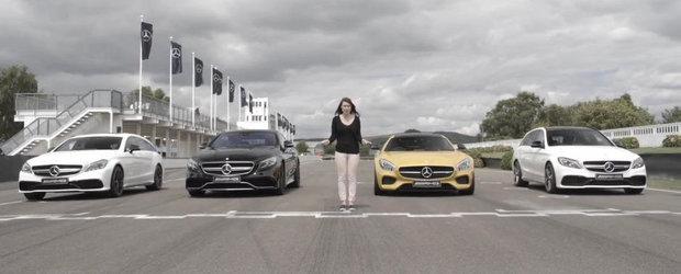 Reuniunea super-Mercedes-urilor: Patru AMG-uri isi dau intalnire pe circuit