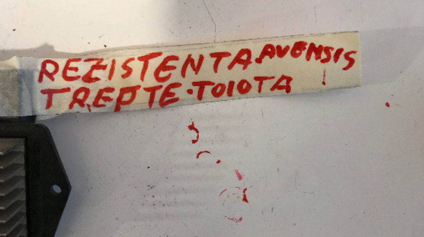 Rezistenta aeroterma trepte ventilator toyota avensis 2.0 d 2003 - 2008