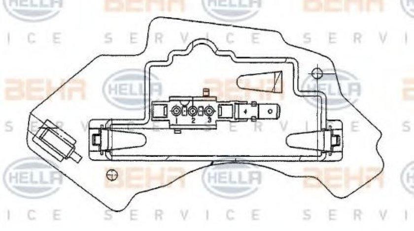 Rezistenta trepte aeroterma MERCEDES E-CLASS Combi (S210) (1996 - 2003) HELLA 5HL 351 321-131 produs NOU