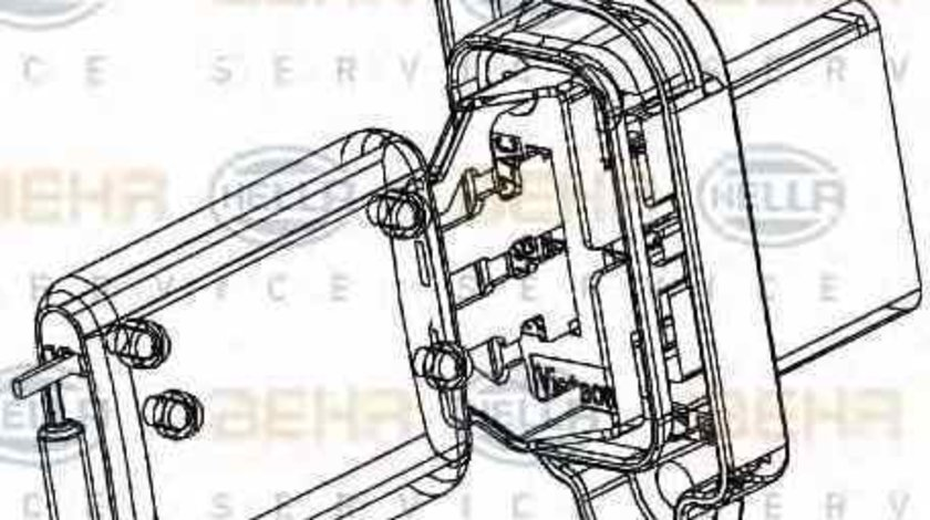 Rezistenta trepte ventilator habitaclu aeroterma FORD C-MAX DM2 HELLA 9ML 351 332-361