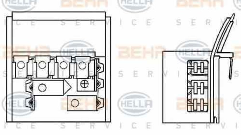 Rezistenta trepte ventilator habitaclu aeroterma BMW Z3 E36 HELLA 9ML 351 332-131
