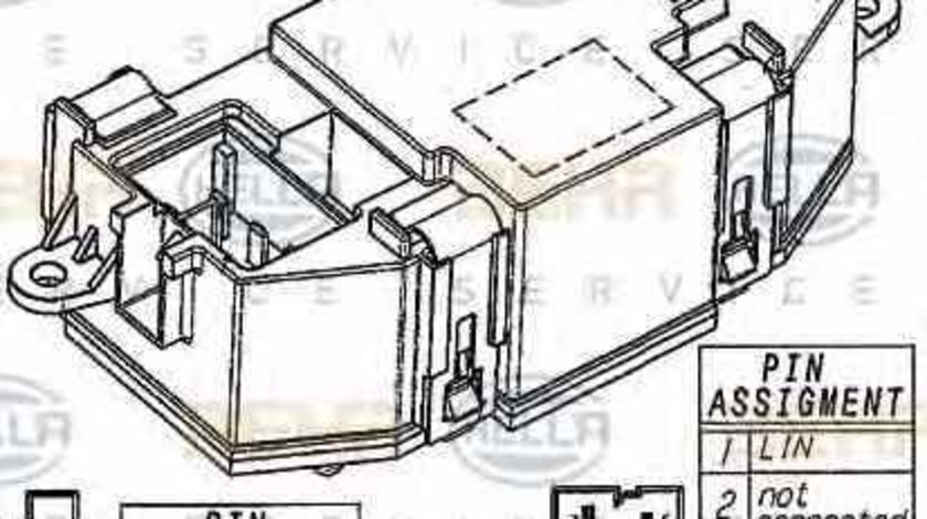 Rezistenta variabila ventilator interior habitaclu AUDI A4 Allroad 8KH B8 HELLA 5HL 351 321-521