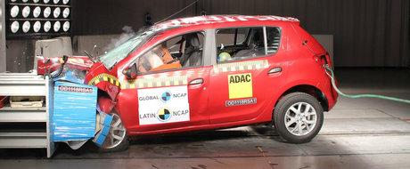 Rezultat rusinos pentru Logan si Sandero: au luat 1 stea la testele de siguranta Latin NCAP