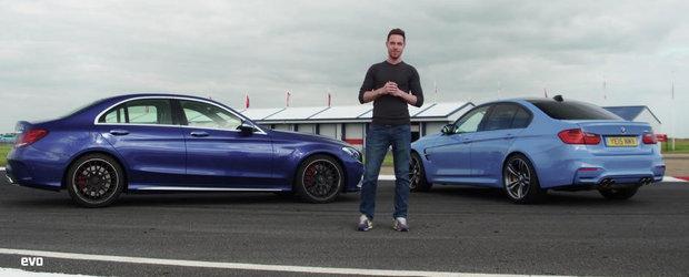 Rivalitatea continua: Noile BMW M3 si Mercedes C63 S se intrec pe circuit
