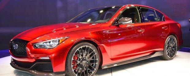 Rivalul lui BMW M3 de la Infiniti, modelul Q50 Eau Rouge, ne da sa-i ascultam motorul. Ce sa fie?