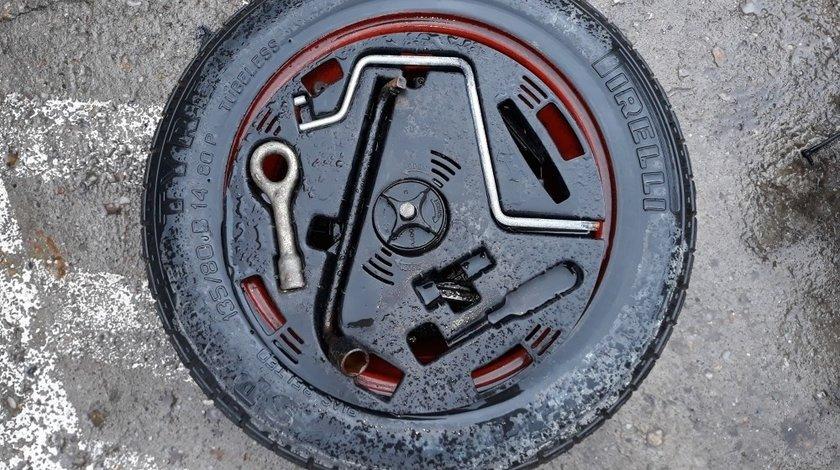 Roata de Rezerva Fiat Punto I (1993-1999) oricare Kit complet cu cheie de roti si cui tractare