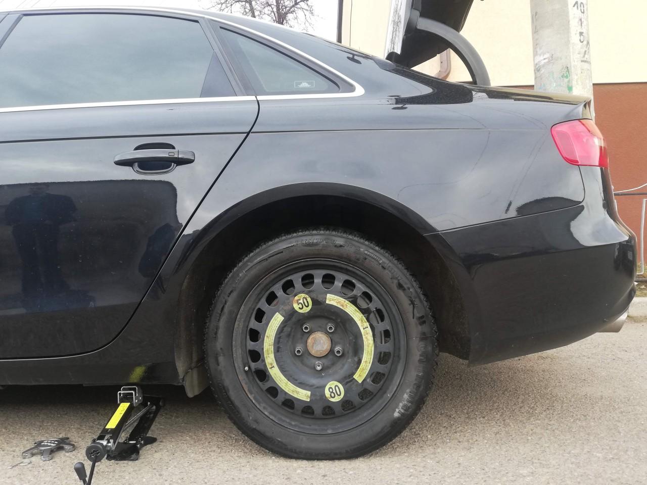 Roata rezerva slim Audi A4 B8, B9 / A5 – 125 70 19 originala