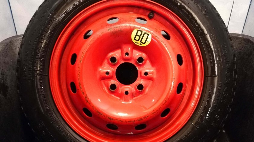 Roata Rezerva Slim: Fiat, Alfa Romeo, Lancia - 4x98 - R 14