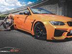 Rocsana Marcu & BMW E93 Orange Metalic Extra Wide . Project by Roberto Predescu .  https://www.facebook.com/predescurebelcustom