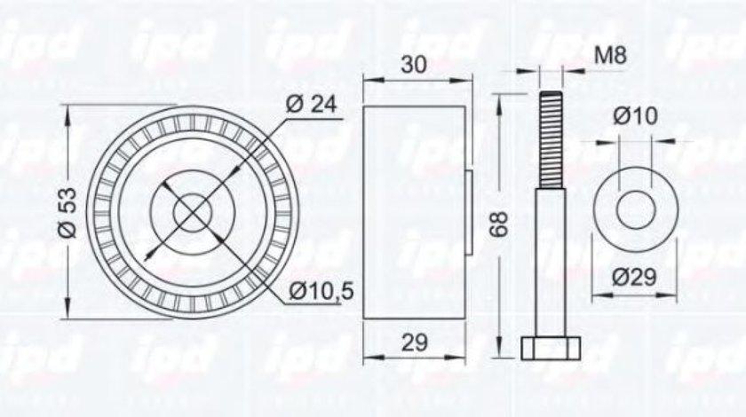 Rola ghidare/conducere, curea distributie ALFA ROMEO 145 (930) (1994 - 2001) IPD 15-1122 produs NOU