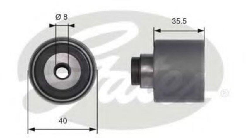Rola ghidare/conducere, curea distributie AUDI A4 (8E2, B6) (2000 - 2004) GATES T41229 - produs NOU