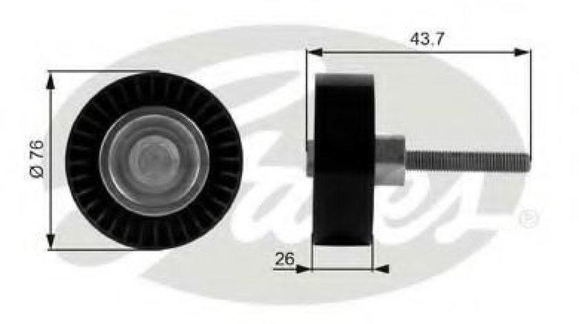 Rola ghidare/conducere, curea transmisie AUDI A3 Cabriolet (8P7) (2008 - 2013) GATES T38054 - produs NOU