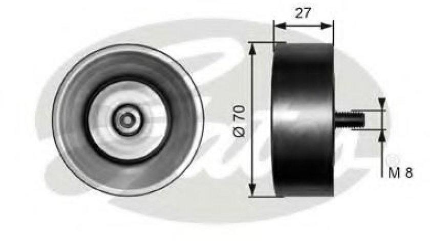 Rola ghidare/conducere, curea transmisie BMW Seria 5 (E60) (2003 - 2010) GATES T36294 - produs NOU