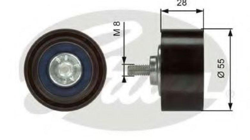 Rola ghidare/conducere, curea transmisie BMW X6 (E71, E72) (2008 - 2014) GATES T36373 - produs NOU