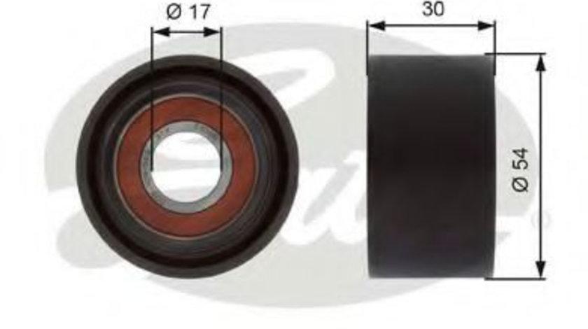Rola ghidare/conducere, curea transmisie MERCEDES GL-CLASS (X164) (2006 - 2012) GATES T36375 piesa NOUA